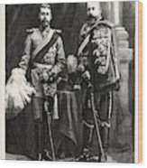 The Prince Of Wales And Prince George Of Wales Wood Print