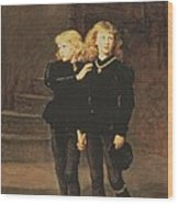 The Princes Edward And Richard Wood Print by Sir John Everett Millais
