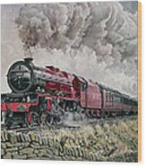 The Princess Elizabeth Storms North In All Weathers Wood Print