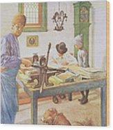 The Print Room, Pub. In Lasst Licht Wood Print