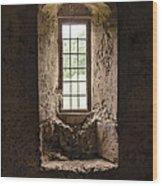 The Priory Window Wood Print