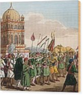 The Procession Of The Taziya, From The Wood Print