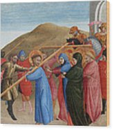 The Procession To Calvary Wood Print