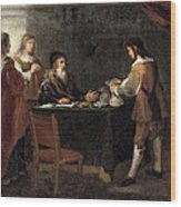 The Prodigal Son Receiving His Portion Of The Inheritance Wood Print