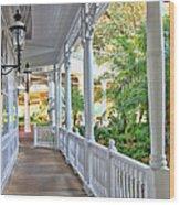 The Promenade Wood Print