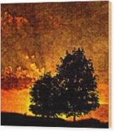 The Promise Overlay Version Wood Print