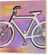 The Psychedelic Bicycle Wood Print