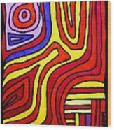 The Psychedelic Musings Of A Squid Wood Print