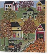 The Pumpkin Barn Wood Print