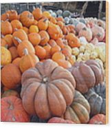 The Pumpkin Stand Wood Print by Richard Reeve