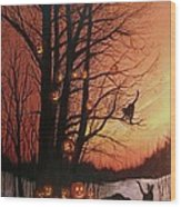 The Pumpkin Tree Wood Print
