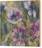 The Purple Bouquet Wood Print