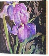 The Purple Iris Wood Print