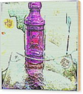 The Purple Medicine Bottle Wood Print