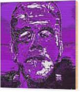 The Purple Monster Wood Print