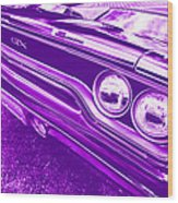 The Purple People Eater - 1970 Plymouth Gtx Wood Print
