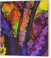 The Purple Tree Wood Print