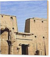 The Pylons Of Edfu Temple Wood Print