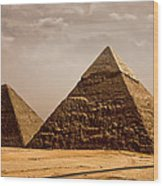 The Pyramids Of Giza Wood Print