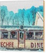 The Quechee Diner Vermont Wood Print