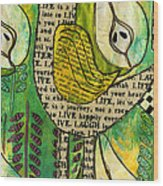 The Queen Of Pears Wood Print