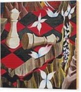 The Queen Wood Print