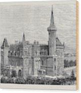 The Queens Residence In Italy Villa Clara Lago Maggiore 1879 Wood Print
