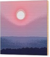 The Queen's Sunset - Stunning Painting Like Photograph Wood Print
