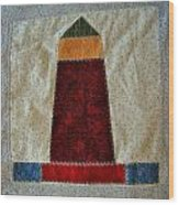 The Quilt Work Of Chambers Island Lighthouse  Wood Print