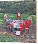 The Quilting Bee Scarecrows Wood Print