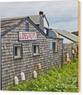 The Quintessential Lobster Experience Wood Print by Michelle Wiarda