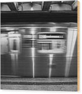 The R Train Nyc Subway Wood Print