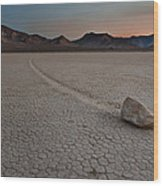 The Racetrack At Death Valley National Park Wood Print