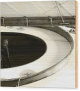 The Racing Sloop  Water Witch  Wood Print