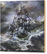The Rage Of Poseidon IIi Wood Print