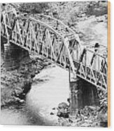 The Rail Bridge Wood Print