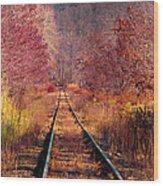 The Railroad Wood Print
