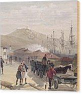 The Railway At Balaklava, Plate Wood Print