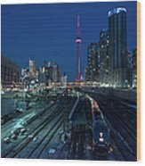 The Railway Lands Toronto Wood Print