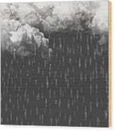 The Rain Wood Print
