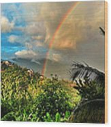 The Rainbow Wood Print