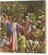 The Raising Of Lazarus, C.1517-19 Oil On Canvas Transferred From Wood Wood Print
