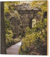 The Ramble Stone Arch Wood Print