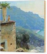 The Ravello Coastline Wood Print