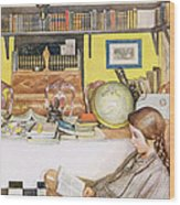 The Reading Room, Pub. In Lasst Licht Wood Print