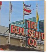The Real Seafood Company 4201 Wood Print