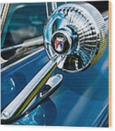 The Side View Mirror Wood Print