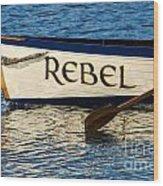 The Rebel Wood Print