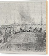The Reception In Full Durbar, At Wuzeerabad Wood Print
