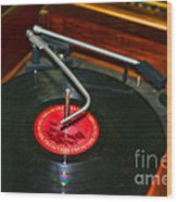 The Record Player Wood Print
